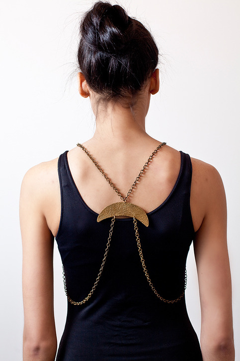 Cinkensta | 3-Way Body Chain Harness and Necklace  :  necklace jewelry harness long